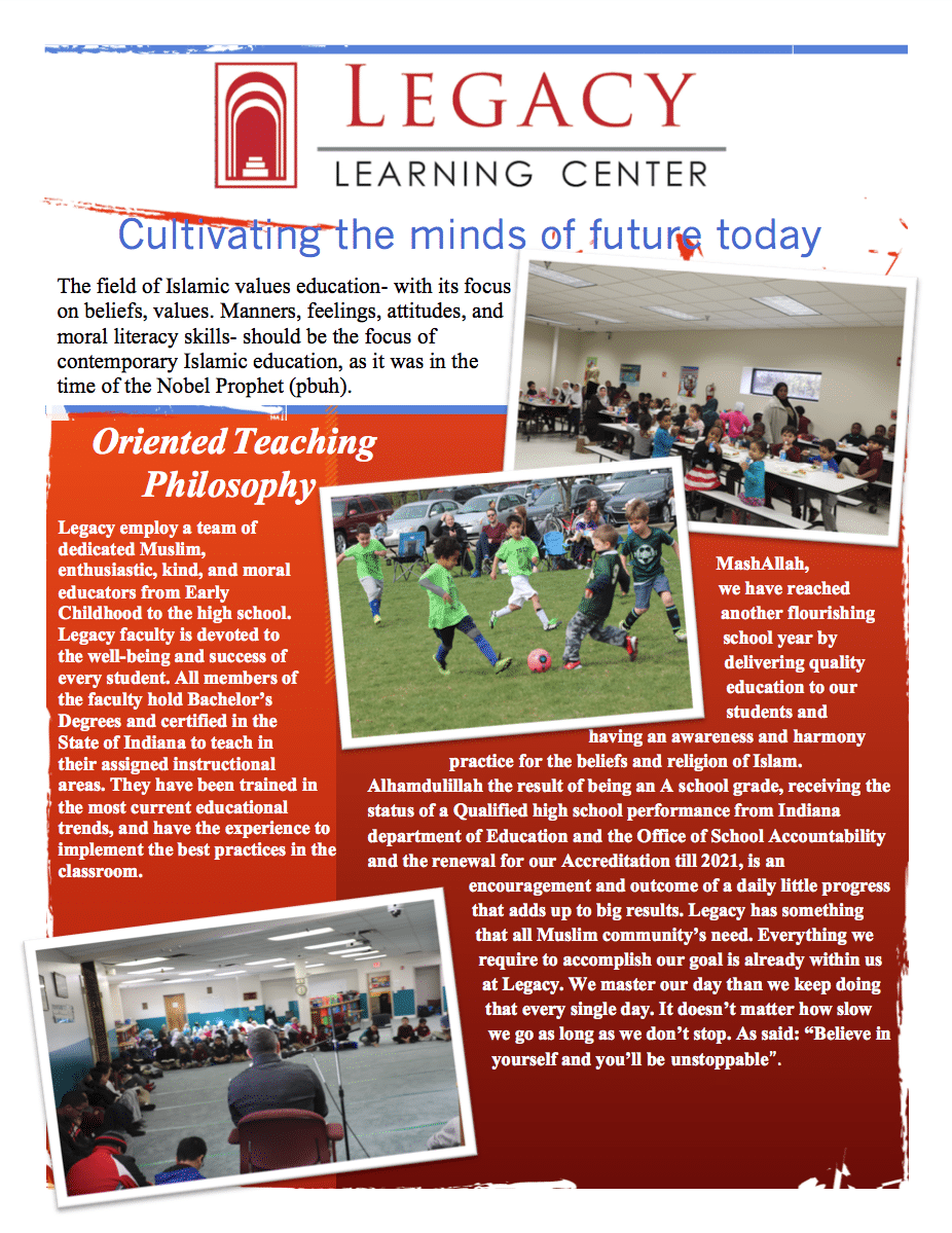 WELCOME - Legacy Learning Center